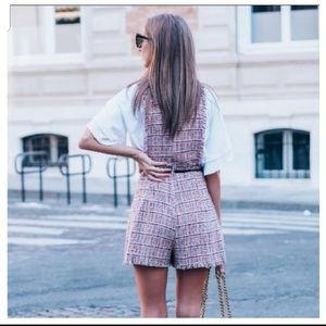 Zara Dresses - BLOGGERS FAV Zara tweed jumpsuit